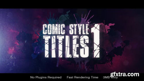 VideoHive Comic Style Title 19933896