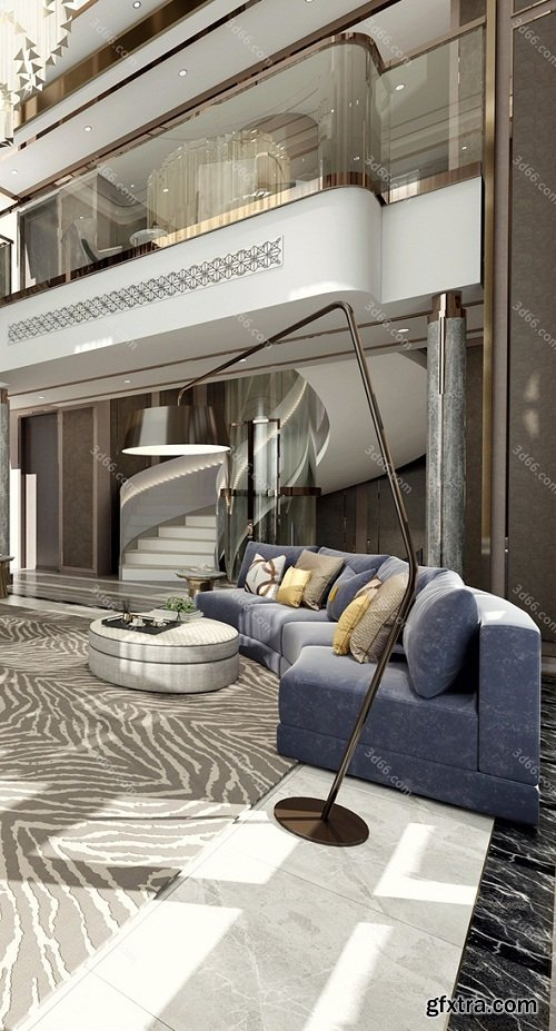 Modern Style Livingroom Interior Scene 04 (2019)