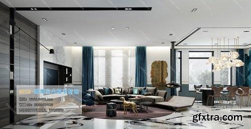 Modern Style Livingroom Interior Scene 05 (2019)