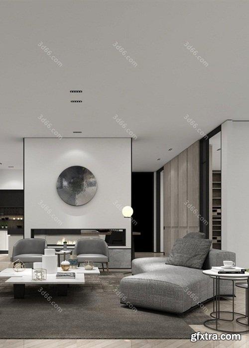 Modern Style Livingroom Interior Scene 06 (2019)