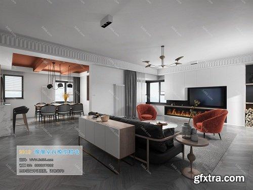 Modern Style Livingroom Interior Scene 08 (2019)