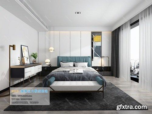 Modern Style Bedroom Interior Scene 13 (2019)