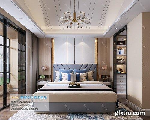 Modern Style Bedroom Interior Scene 14 (2019)
