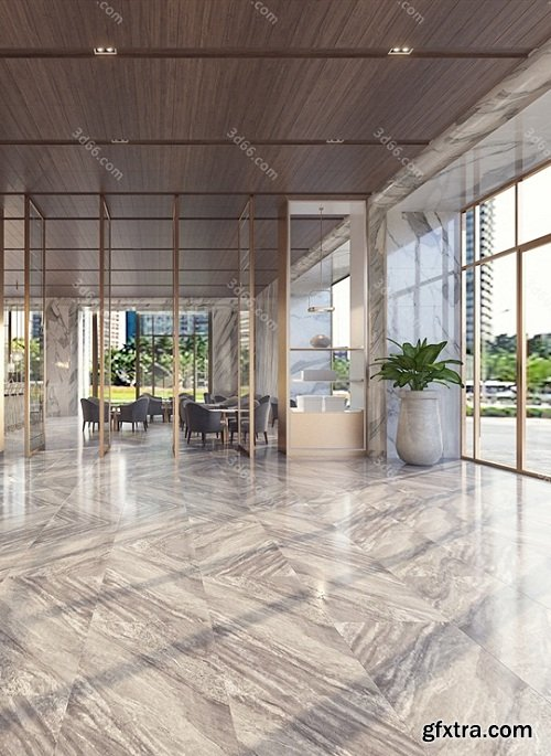 Modern Lobby & Reception Interior Scene 01 (2019)