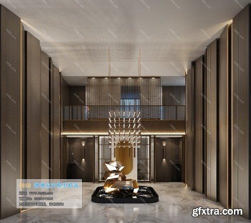 Modern Lobby & Reception Interior Scene 02 (2019)