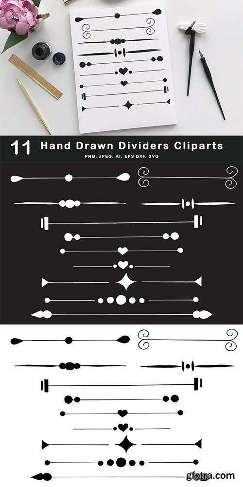Hand Drawn Dividers Cliparts