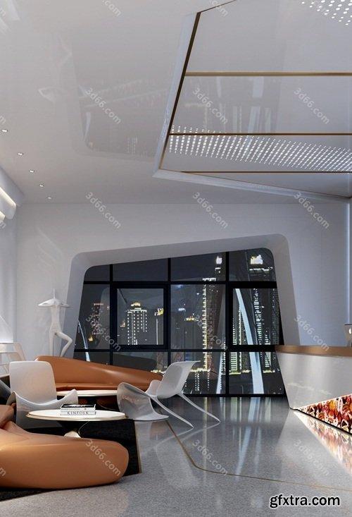 Modern Lobby & Reception Interior Scene 03 (2019)