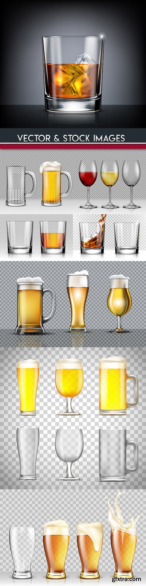 Glass glass for whisky beer and alcoholic beverages