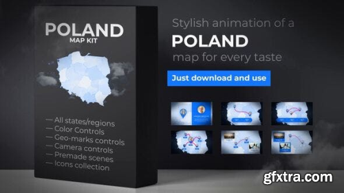 VideoHive Poland Map - Republic of Poland Map Kit 24164858