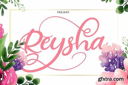 Reysha Flower Script Font
