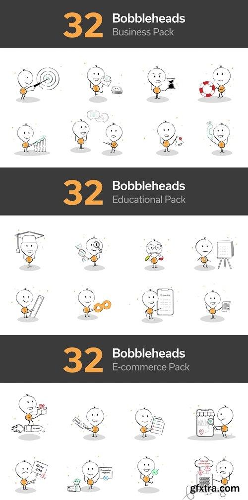 Bobblehead Illustrations