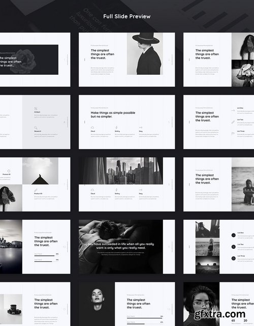 Cicle - Minimal Powerpoint and Keynote Templates
