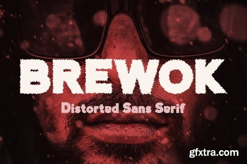 CM - Brewok Distorted Font 3956782