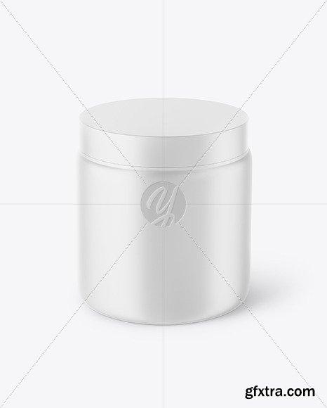 Matte Plastic Jar Mockup 46255
