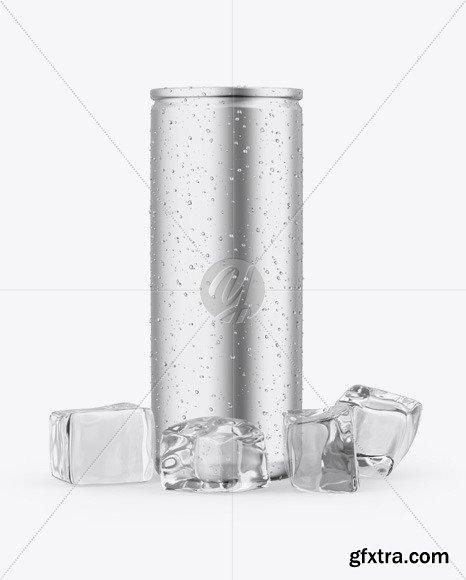 Matte Metallic Can Mockup 46261