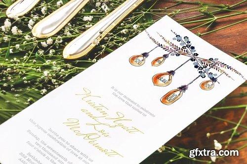 Subtle Wedding Invitation Card