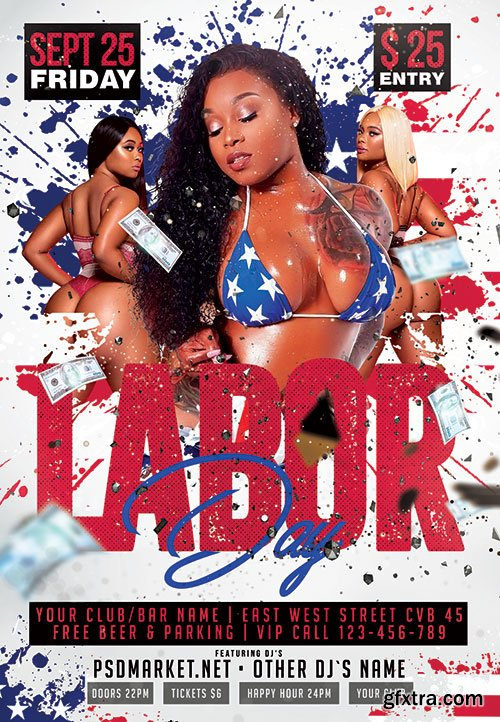 Labor day holiday - Premium flyer psd template