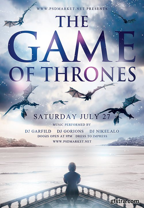 The game of thrones - Premium flyer psd template