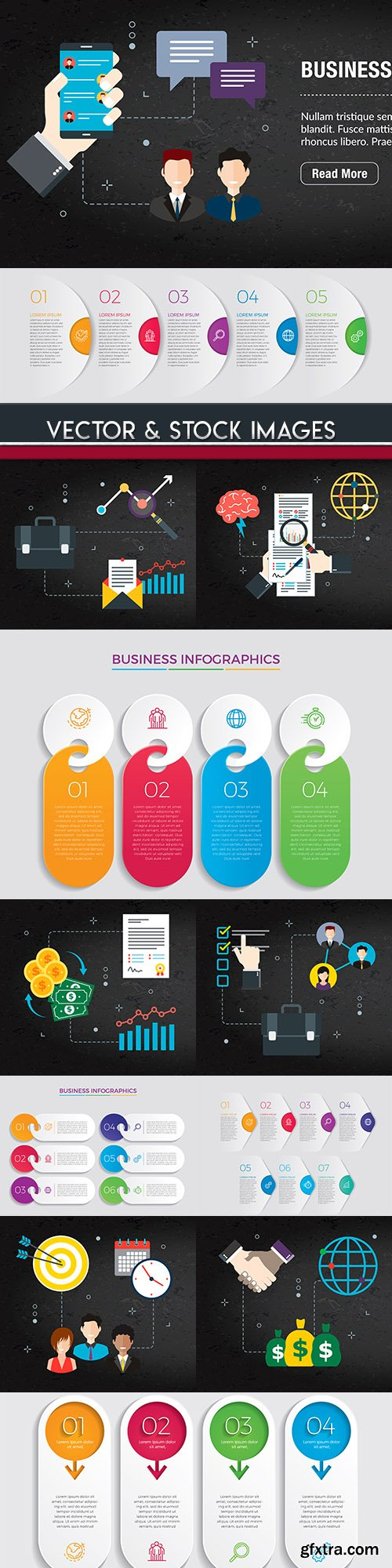 Business infographics options elements collection 75