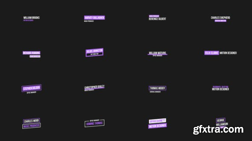 VideoHive Simple Lower Thirds for After Effects 23313041