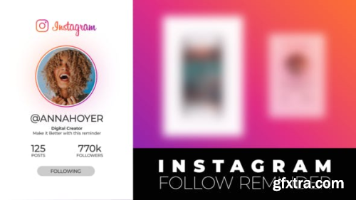 VideoHive Instagram Follow Reminder 24181570