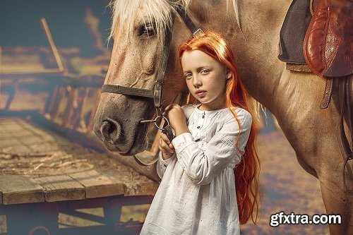 Dmitry Usanin - Red Haired Girl with Horse: Editing Video