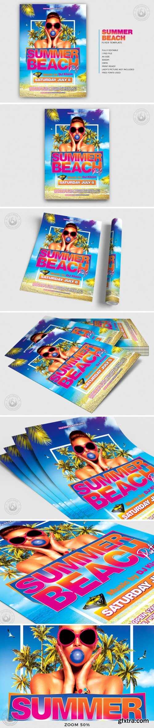 CM - Summer Beach Flyer Template V4 3950125