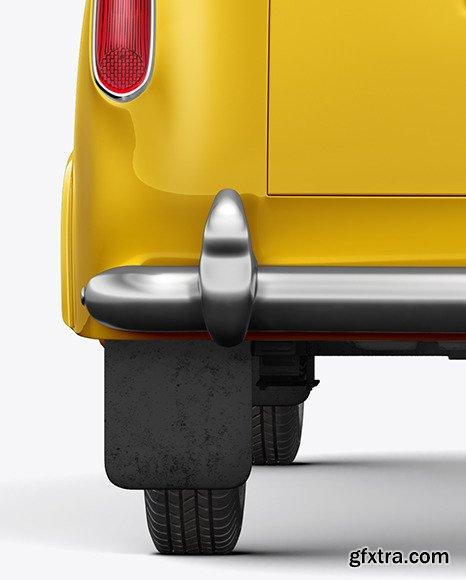 Retro Cab Car Mockup - Back View 46251