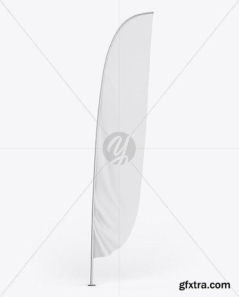 Matte Convex Flag Mockup 46234