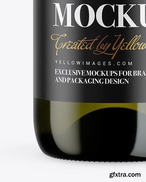 1.5L Green Glass Wine Bottle Mockup 46184