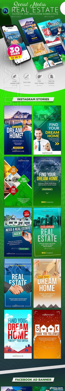 GraphicRiver - Real Estate Social Media Banner Pack 24070155