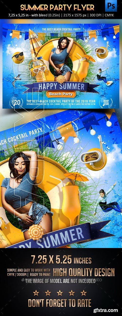 GraphicRiver - Summer Party Flyer 24070576