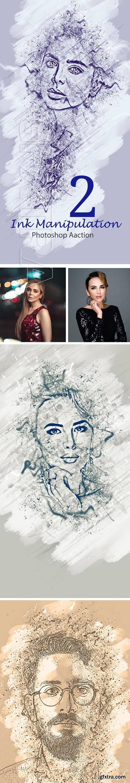 GraphicRiver - Ink Manipulation Photoshop Action 2 24074892