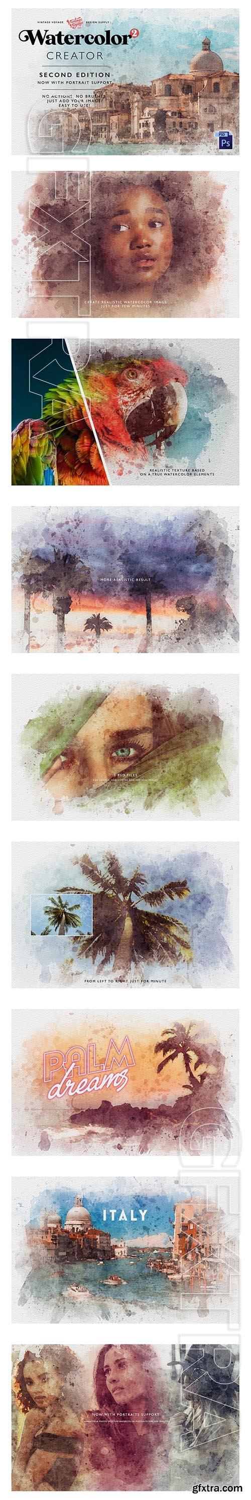 CreativeMarket - Watercolor Creator • Second Edition 3924431