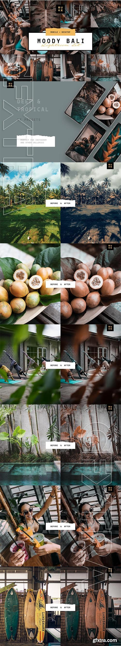 CreativeMarket - MOODY BALI TRAVEL LIGHTROOM PRESETS 3916193