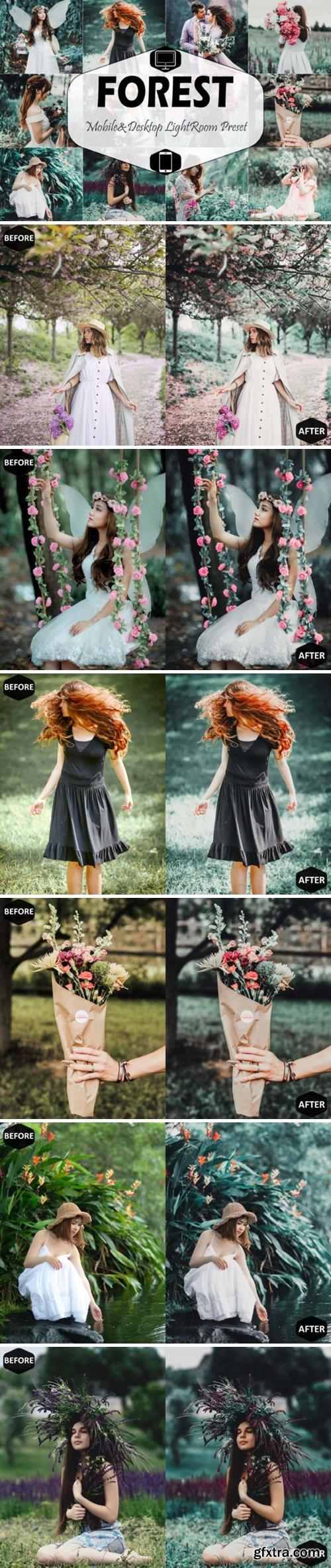 Forest Mobile & Desktop Lightroom Preset 1629277