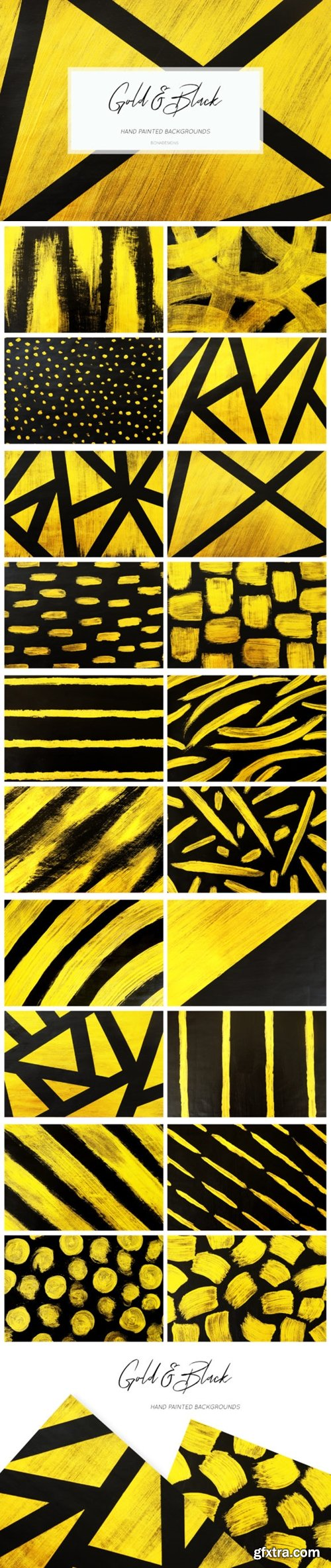 Black & Gold Backgrounds, Hand Painted 1627267
