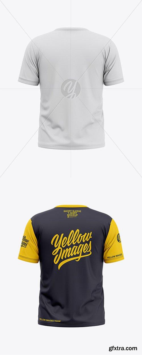 Download Men S Short Sleeve T Shirt Mockup Back View 36662 Gfxtra PSD Mockup Templates