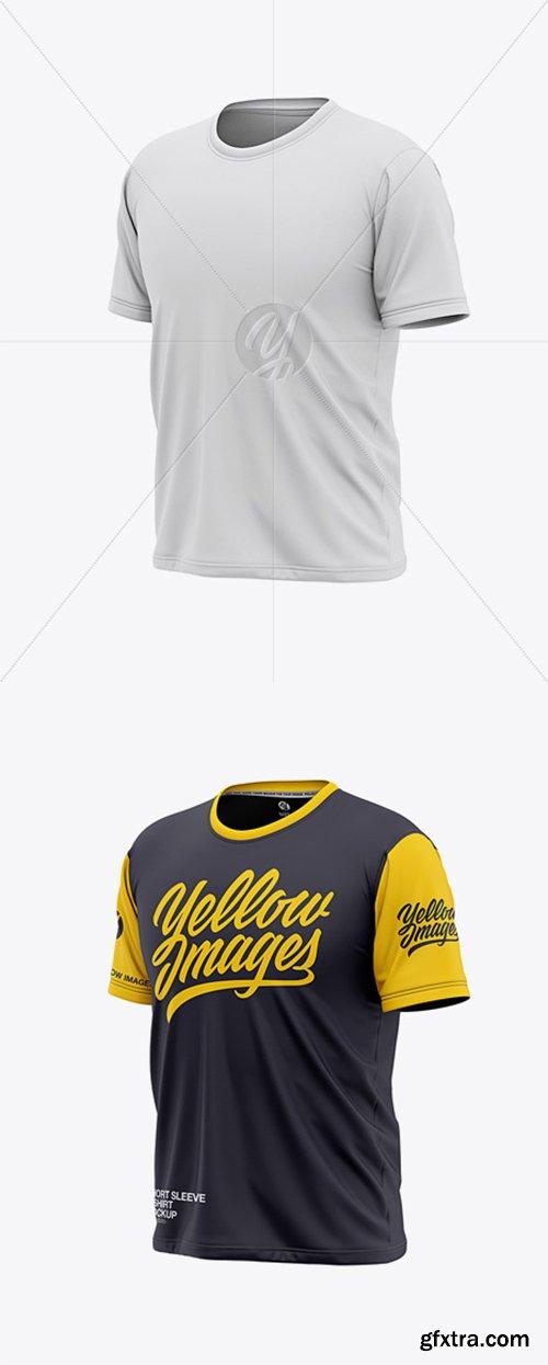 Men's Short Sleeve T-Shirt Mockup - Front Half Side View 36736