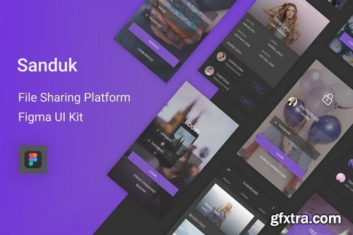 Sanduk - File Sharing Platform UI Kit for Figma