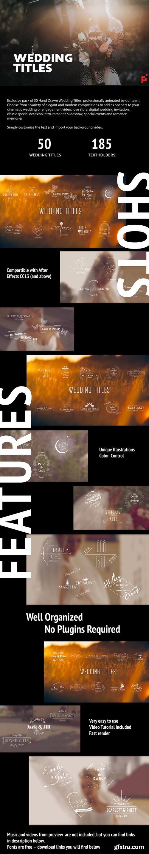Videohive - 50 Wedding Titles - 23195625