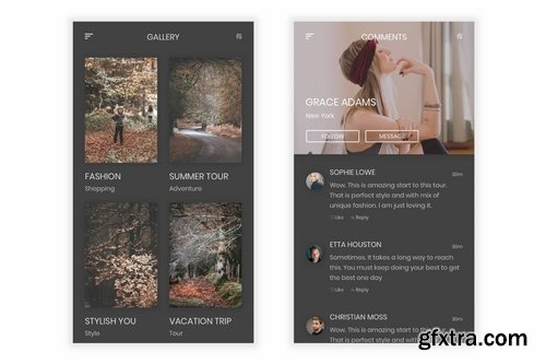 Aagya - Photo & Video Sharing UI Kit for Figma