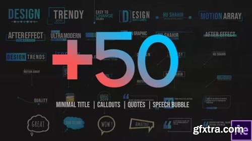 Videohive - +50 Motion Titles Pack - 23785819