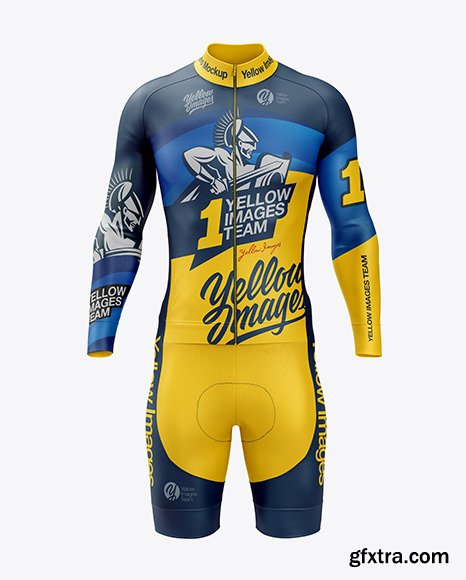Men's Cycling Kit Mockup 46318