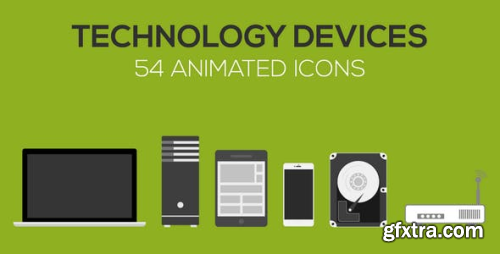 VideoHive Technology Devices Animated icons 13269302