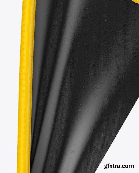 Matte Teardrop Flag Mockup - Half Side View 46347