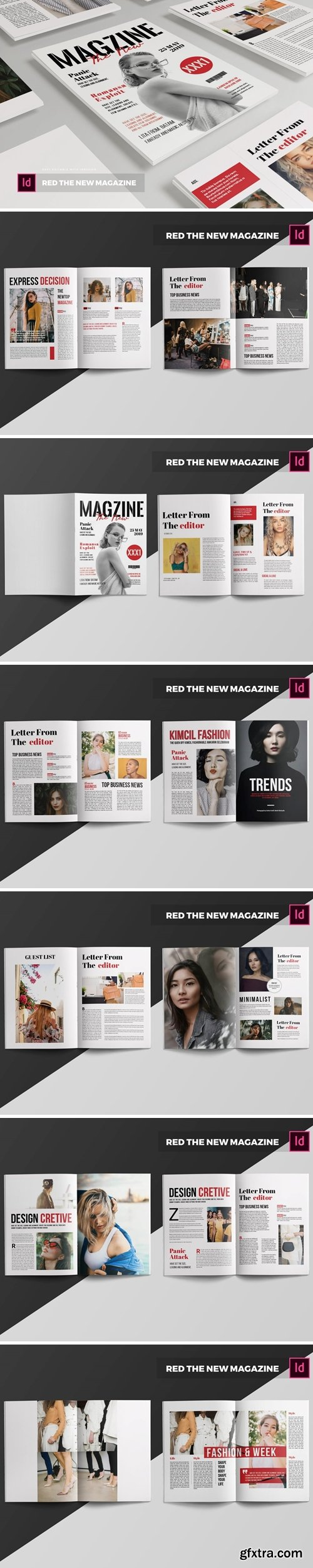 Red The New   Magazine Template