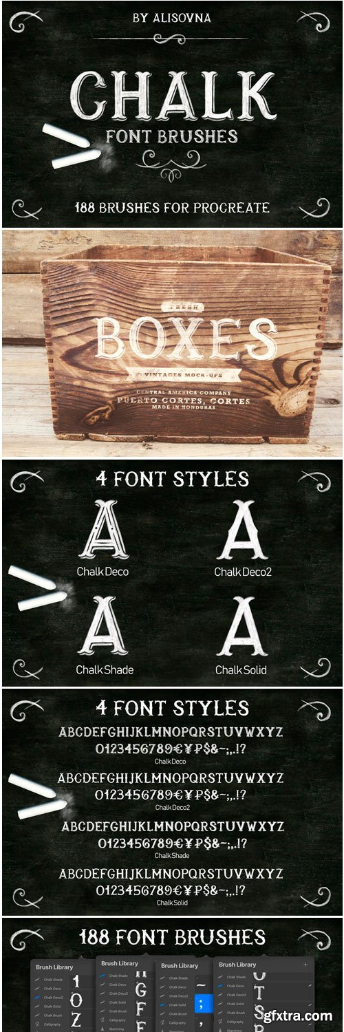 CM - Procreate Chalk Font Brushes 3661176