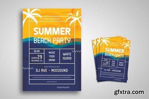 Summer Beach Party Flyer Promo Template