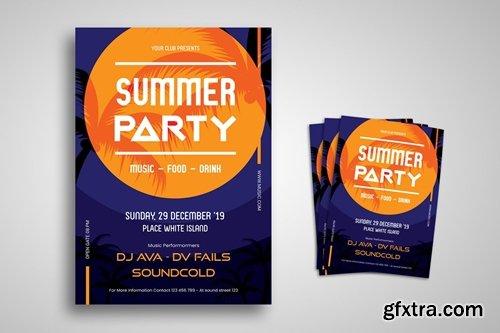 Summer Festival Flyer Promo Template Bundle